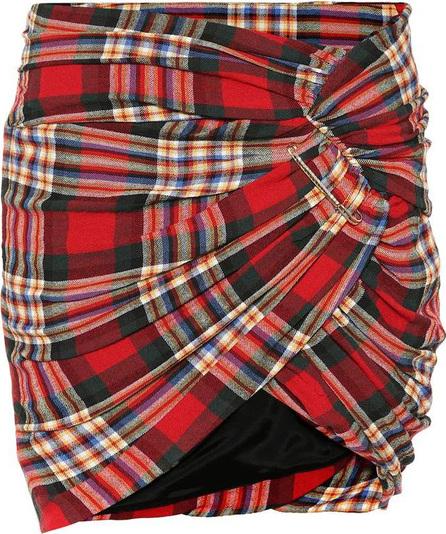 Alexandre Vauthier Plaid wool-blend skirt