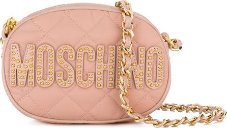 Moschino small logo quilted shoulder bag