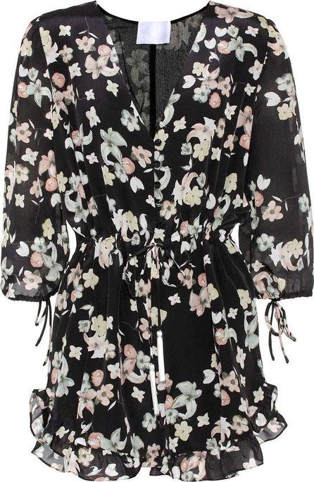 Athena Procopiou Wild Grace floral-printed silk playsuit
