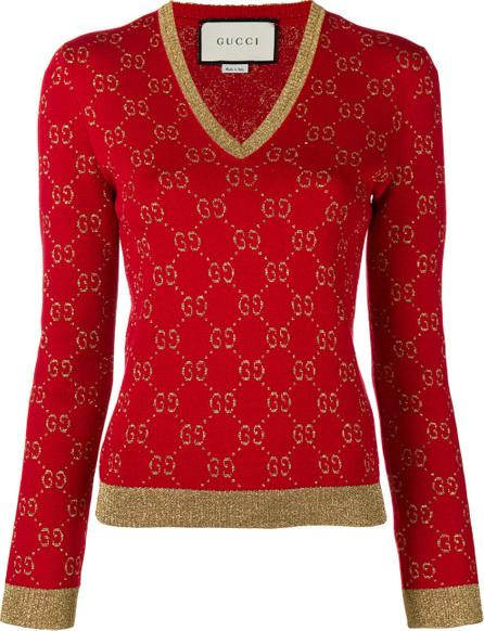 Gucci GG lurex knit jumper