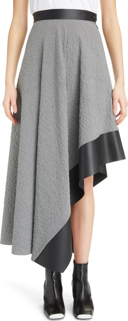LOEWE Leather Trim Asymmetrical Skirt