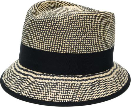Loro Piana Checkered weave hat