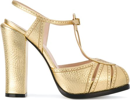 Fendi metallic sandals
