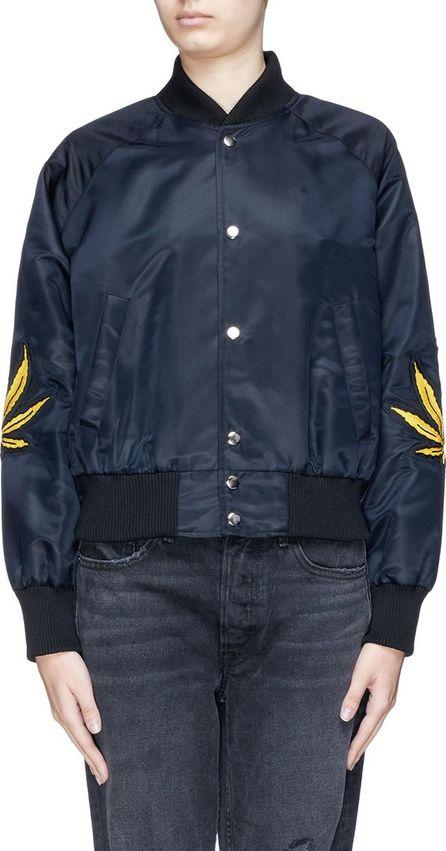 Adaptation Graphic appliqué bomber jacket