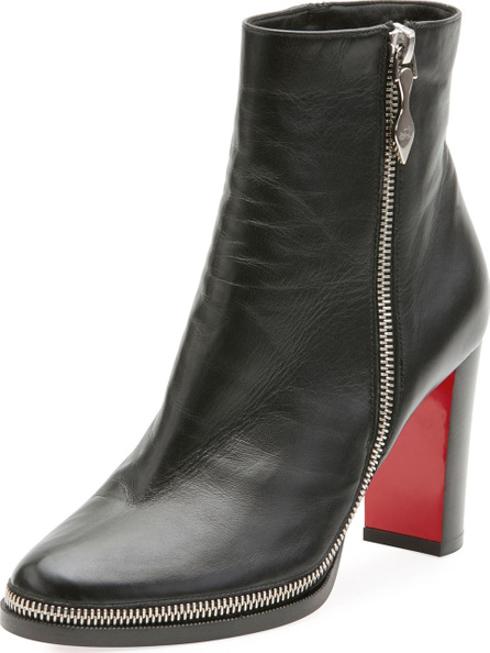 Christian Louboutin Telezip Crinkled Red Sole Ankle Boot