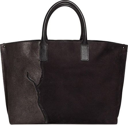 Akris AI Medium Top Handle Pebbled Leather Tote Bag