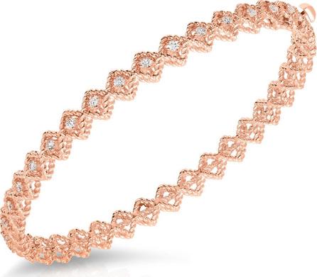Roberto Coin 18k Rose Gold New Barocco Diamond Bangle