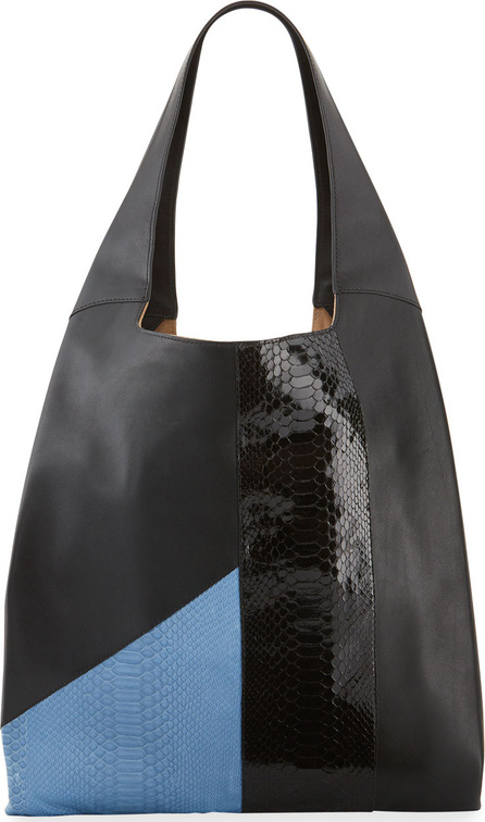 Hayward Grand Shopper Smooth Tote Bag, Blue/Black