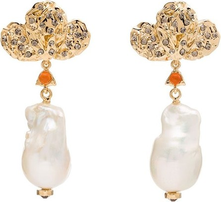 Chloe Gold-plated pearl drop earrings