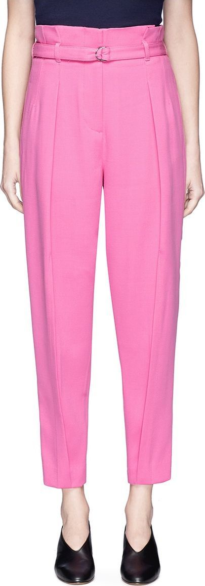 3.1 Phillip Lim Belted high waist suiting pants