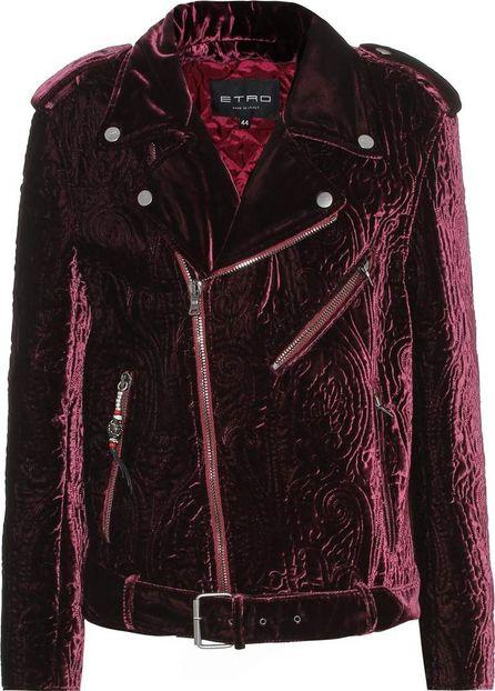 Etro Quilted velvet biker jacket