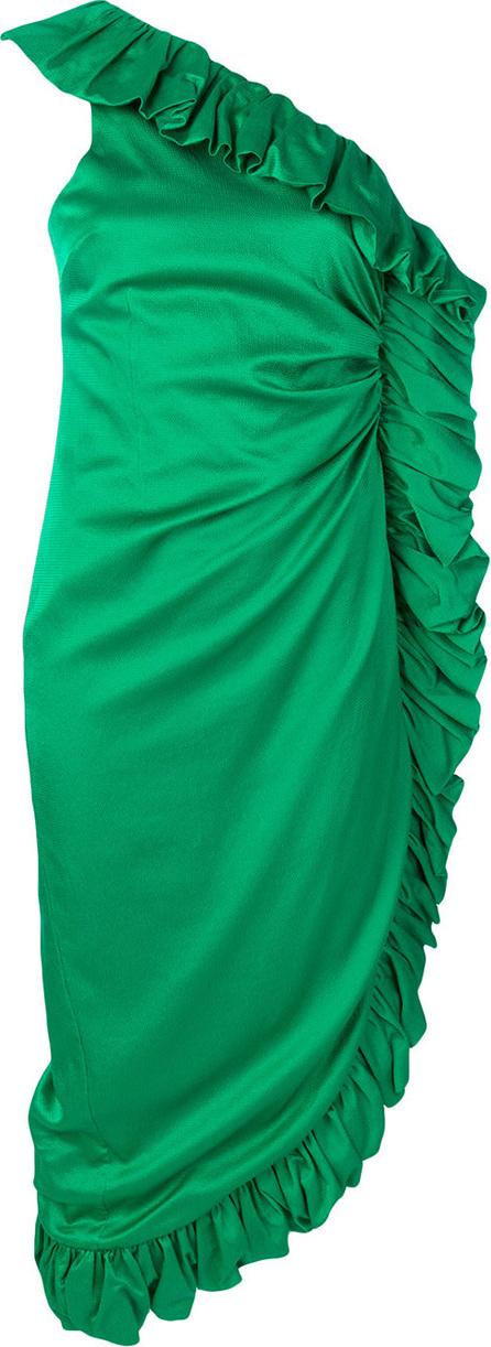 Attico Ruffled midi dress