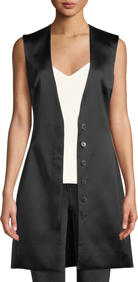 THE ROW Lafran V-Neck Satin Vest