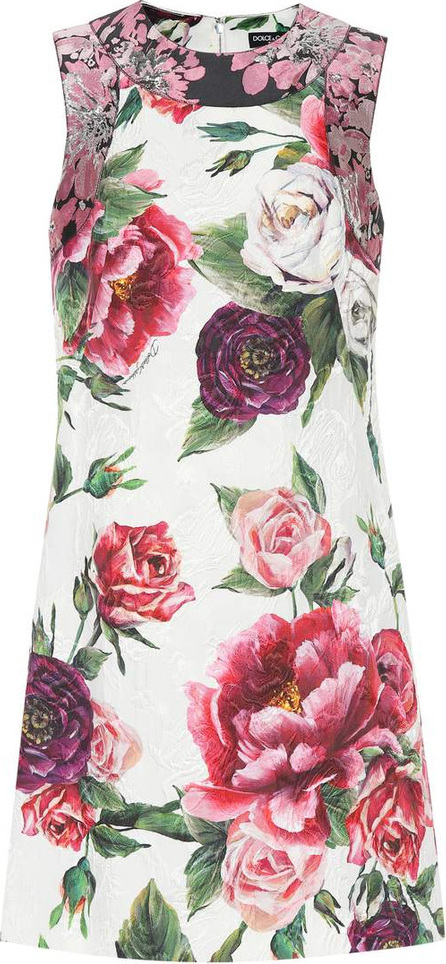 Dolce & Gabbana Cotton and silk-blend jacquard dress