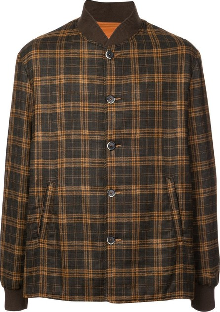 Barena Plaid bomber jacket