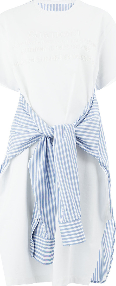 Juun.J Striped detail T-shirt dress