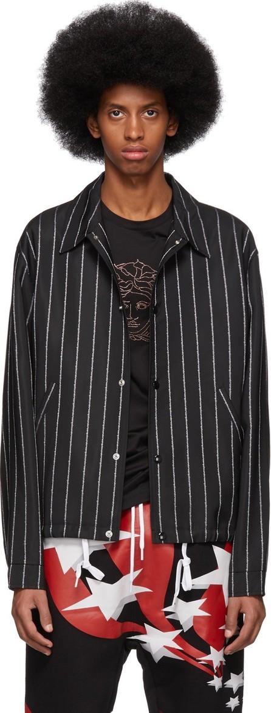 Alexander Wang Black Wool Jacquard Logo Jacket