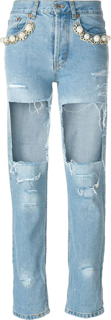Forte Couture Big Heroes destroyed jeans