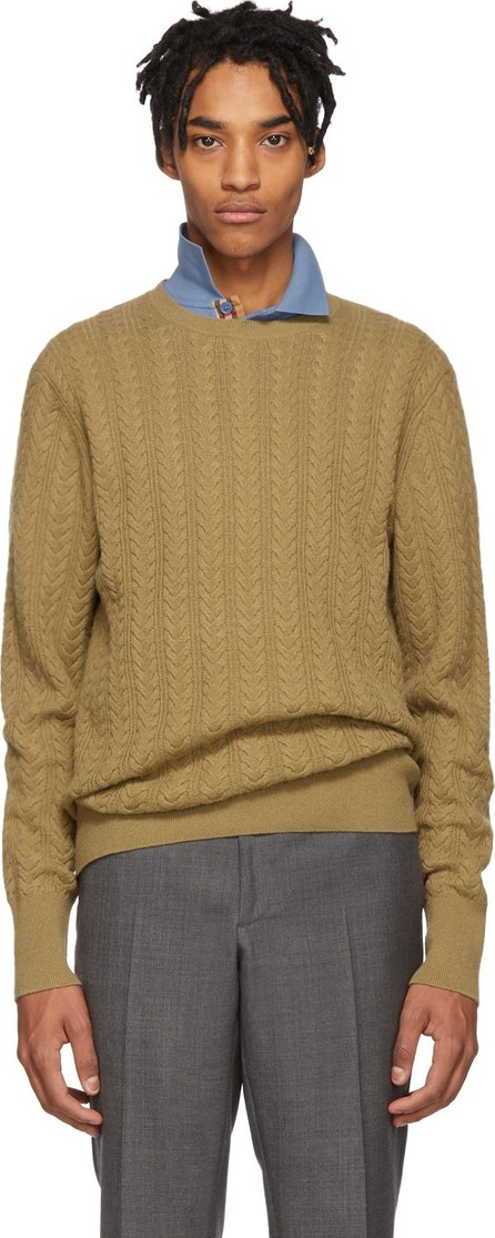Burberry London England Beige Cashmere Harwood Sweater