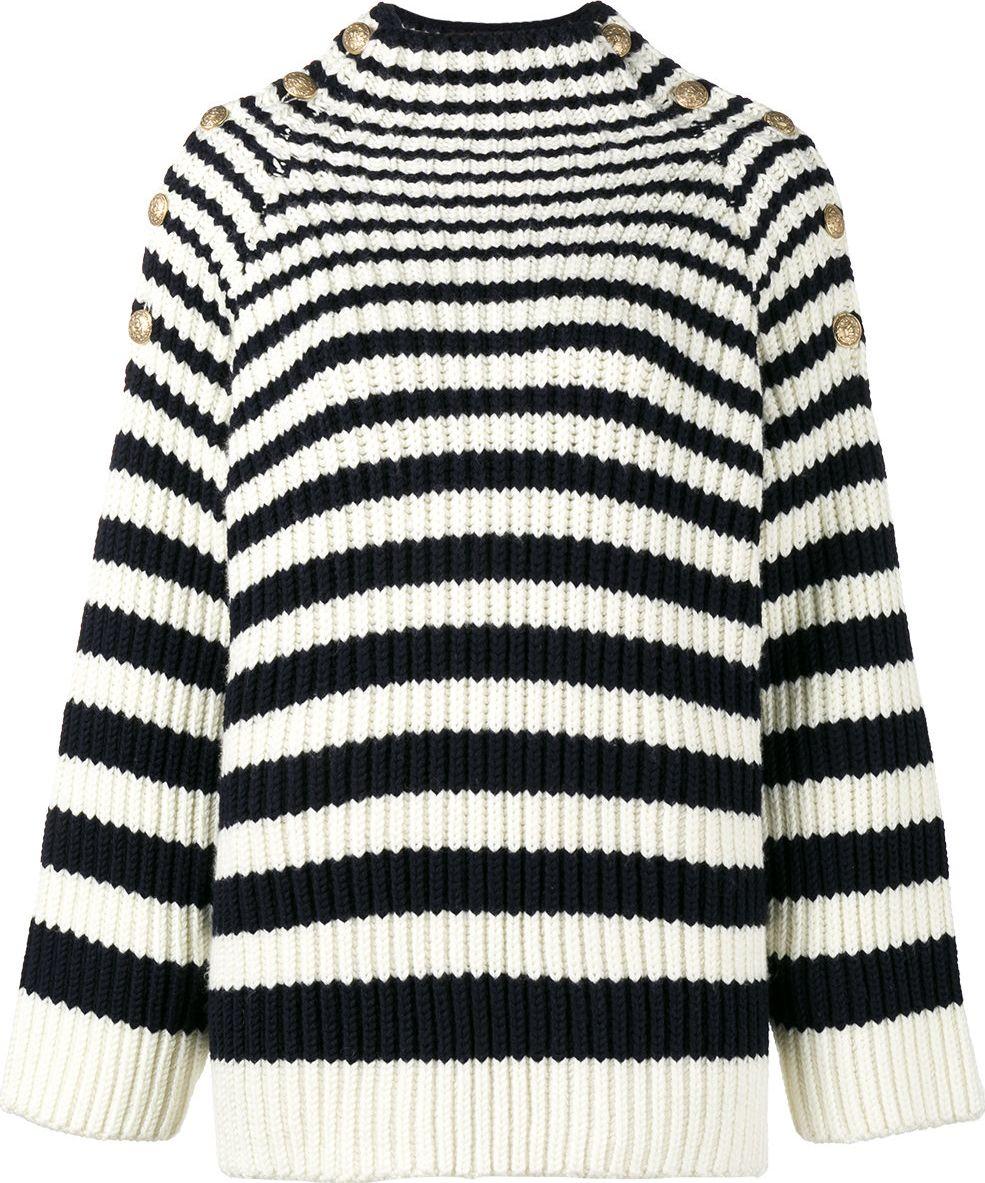 Alberta Ferretti - long sleeve striped jumper