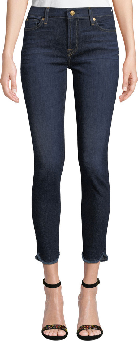 7 For All Mankind Ankle Skinny Jeans with Scalloped Hem