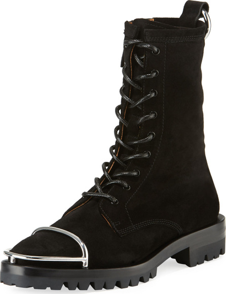 Alexander Wang Kennah Suede Lace-Up Boots
