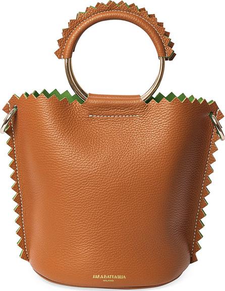 Sara Battaglia Helen Leather Bucket Bag