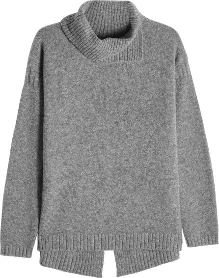 81hours Cashmere Turtleneck Pullover with Slit Back