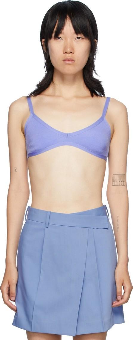 Helmut Lang Blue Knit Bra