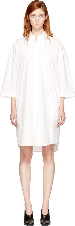 Acne Studios Off-White Ditta Shirt Dress