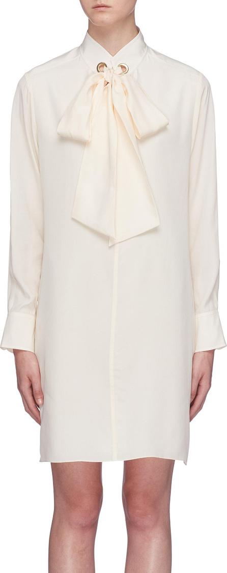 Chloe Lavallière sash tie silk crepe dress