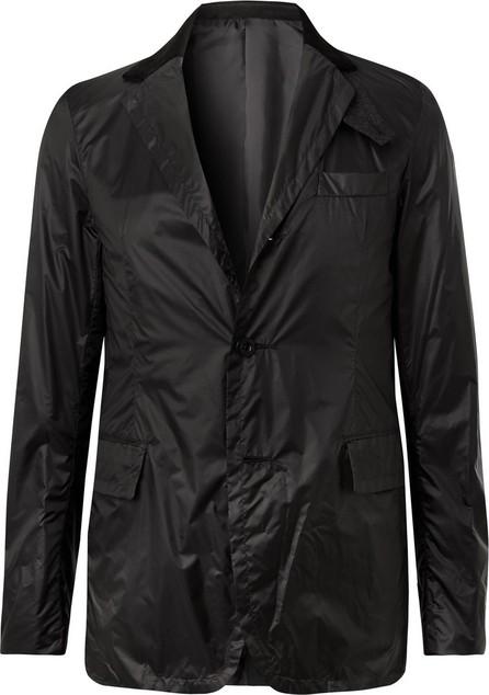 Sacai Black Slim-Fit Velvet and Wool-Trimmed Nylon Blazer