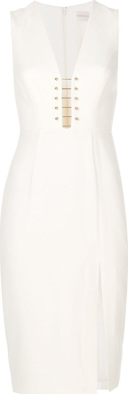 Zimmermann v-neck fitted midi dress