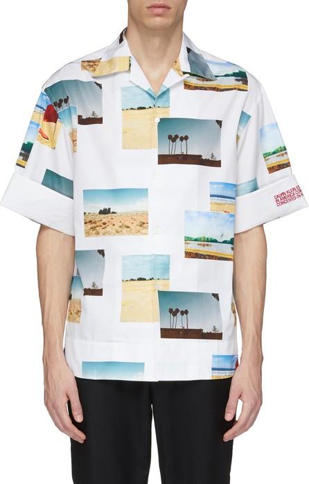 Calvin Klein 205W39NYC Photographic print roll cuff short sleeve shirt