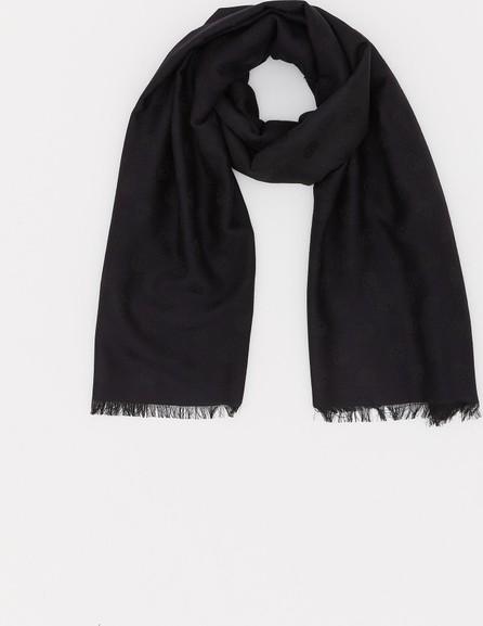 Alexander McQueen All Over Skull wool-silk scarf
