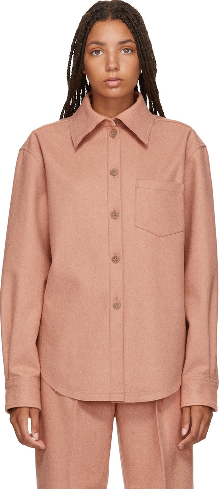 Acne Studios Pink Wool & Cashmere Flannel Shirt