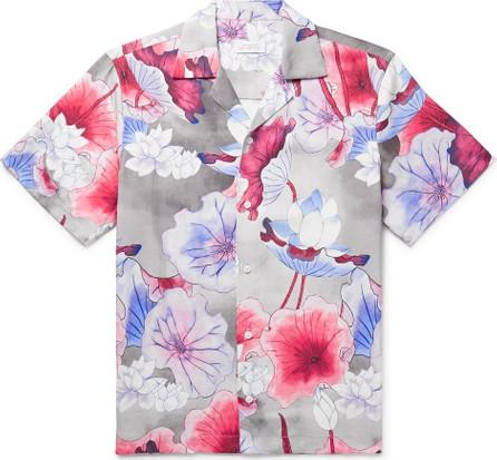 SATURDAYS NYC Camp-Collar Printed Lyocell Shirt