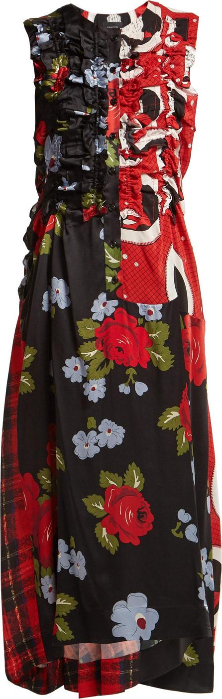 Simone Rocha Patchwork silk-blend dress