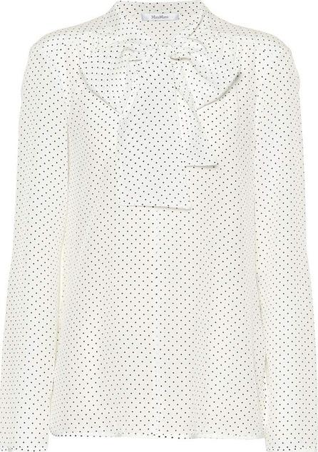 Max Mara Adelmo polka-dot silk blouse