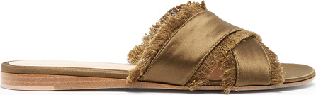 Gianvito Rossi Barth fringed satin sandals