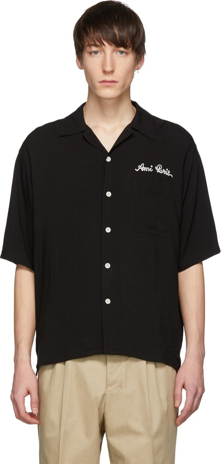 AMI Black Logo Camp Shirt