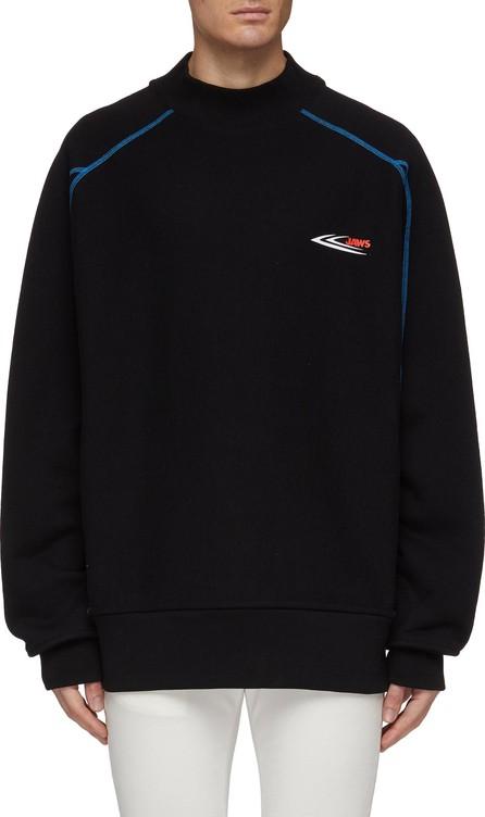 Calvin Klein 205W39NYC 'Jaws' slogan print overlock stitching oversized sweatshirt