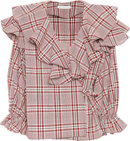 Rejina Pyo Plaid cotton wrap top