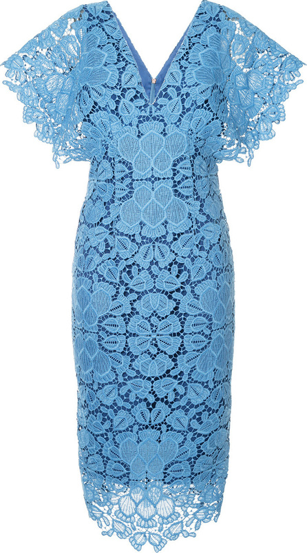 GINGER & SMART Floral lace shortsleeved dress