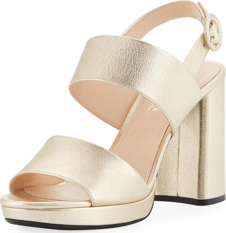 Prada Metallic Platform Slingback Sandal