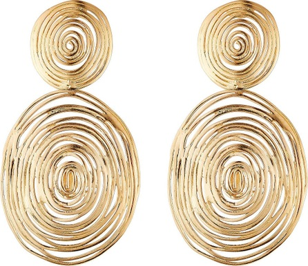 GAS Bijoux 24kt Gold Plated Wave Large Earrings