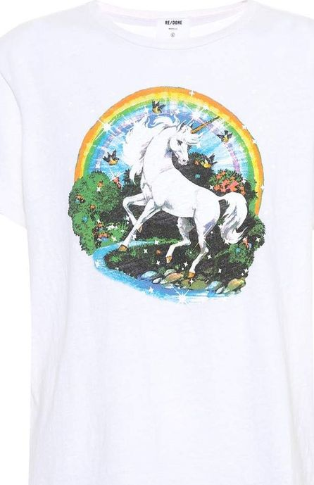 RE/DONE The Classic Unicorn cotton T-shirt