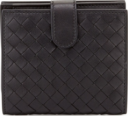 Bottega Veneta Small French Woven Bi-Fold Wallet