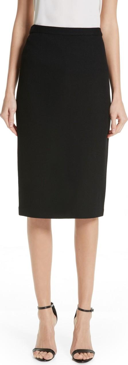St. John Milano Piqué Knit Skirt