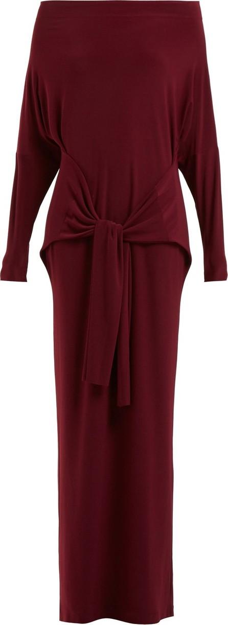 Norma Kamali Long-sleeved tie-waist dress